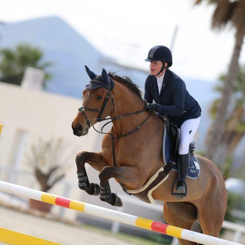 Oliva, Spain - 2020 March 1: Bronze tour 1m30 during CSI Mediterranean Equestrian Spring Tour 2 (photo: 1clicphoto)